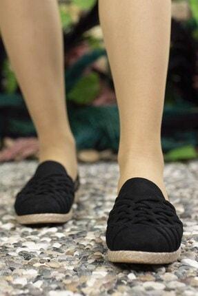 Riccon Kadın Siyah Süet Günlük Ayakkabı 0012or01 3