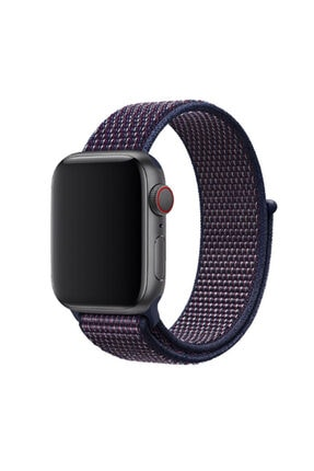 Zore Apple Watch 1 2 3 4 5 Serisi 42mm Uyumlu  Kordon Spor Loop Hasır Cırt Cırtlı Kayış 0