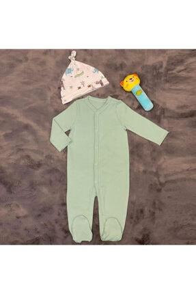 PİEROSBABY Pieros Baby 0071 Erkek Bebek 2'li Tulum Şapkalı 2
