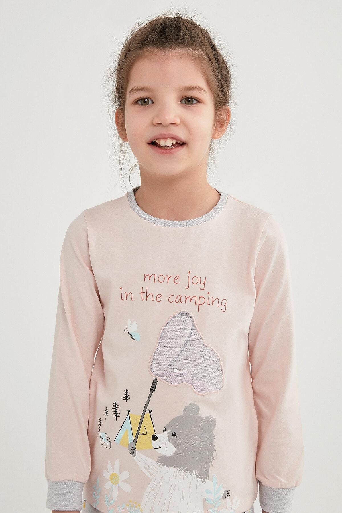 Penti Kız Çocuk Çok Renkli Campıng Joy Ls 2li Pijama Takımı 2