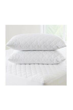 Fa Home Collection Beyaz Kapitone Silikon Yastık 50x70 2