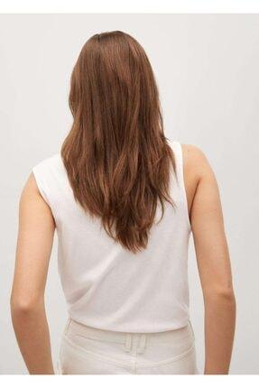 Mango Kadın Beyaz Kolsuz Bluz 2