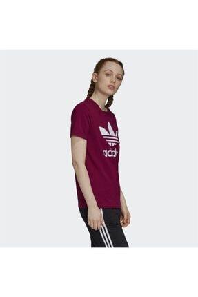 adidas Kadın Bordo Trefoil Tişört 2