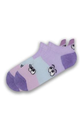 Modernity Kadın Renkli Göz Desenli 6'lı Çorap Seti 1