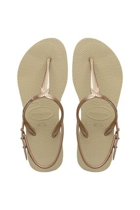 Kadın Altın Sandalet-41447560154356