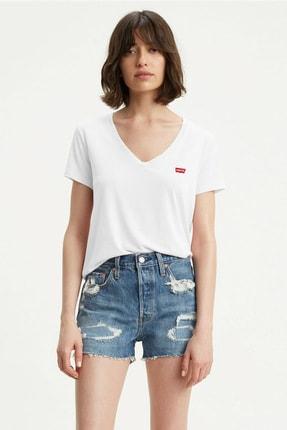 Levi's Kadın Beyaz T-Shirt 0