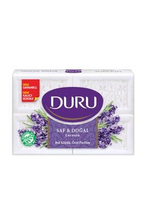 Duru Saf & Doğal Lavanta 4 Adet Beyaz Kalıp Sabun 600 gr 3