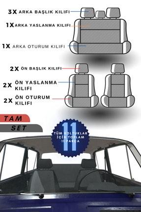 TANTEX Üniversal Ortopedik Oto Koltuk Kılıfı - Füme / Füme 3