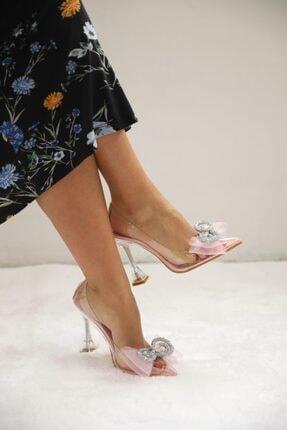 SHOEBELLAS She Pembe Kadın Topuklu Ayakkabı 2