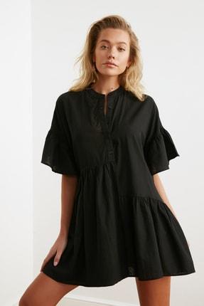 TRENDYOLMİLLA Siyah Düğmeli Plaj Elbisesi TBESS20EL0873 0