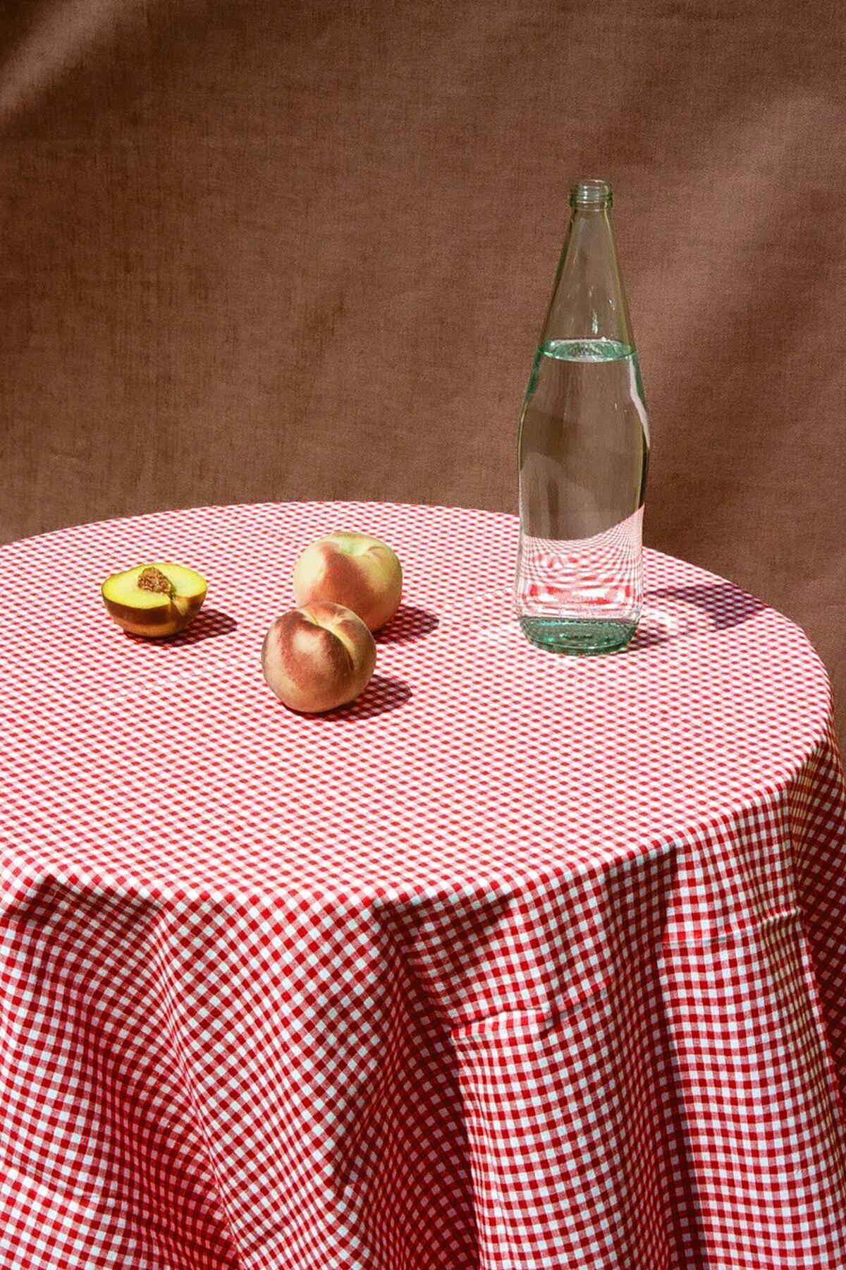 Kırmızı Kareli Masa Örtüsü Piknik Örtüsü