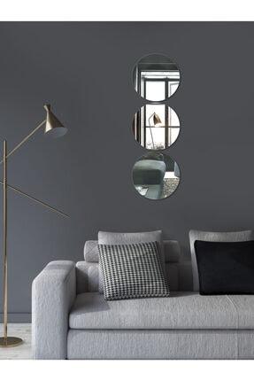 Decovetro Ayna | 3 Parça Yuvarlak Dekoratif Duvar Aynası 3