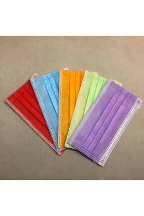 IPT 5 Farklı Renk 50 Adet 3 Katlı Maske 0