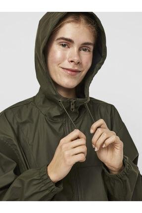 Vero Moda Kadın Yeşil Kapüşonlu Yağmurluk 2