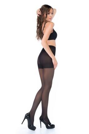 Penti Kadın Siyah Siluet Korseli Mat Külotlu Çorap 500/5 1