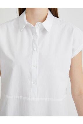 Koton Kadın Beyaz Gömlek Yaka Bluz 4