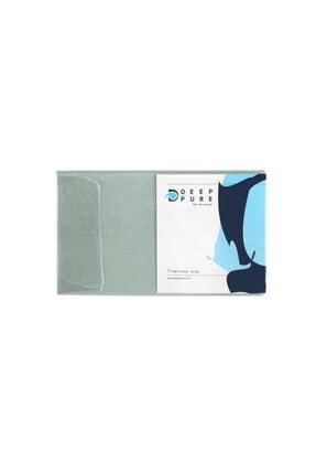Deep And Pure Capella 100% Pamuk Tek Kişilik Yeşil Lastikli Çarşaf 90x200+30 Cm (Yükseklik) 4