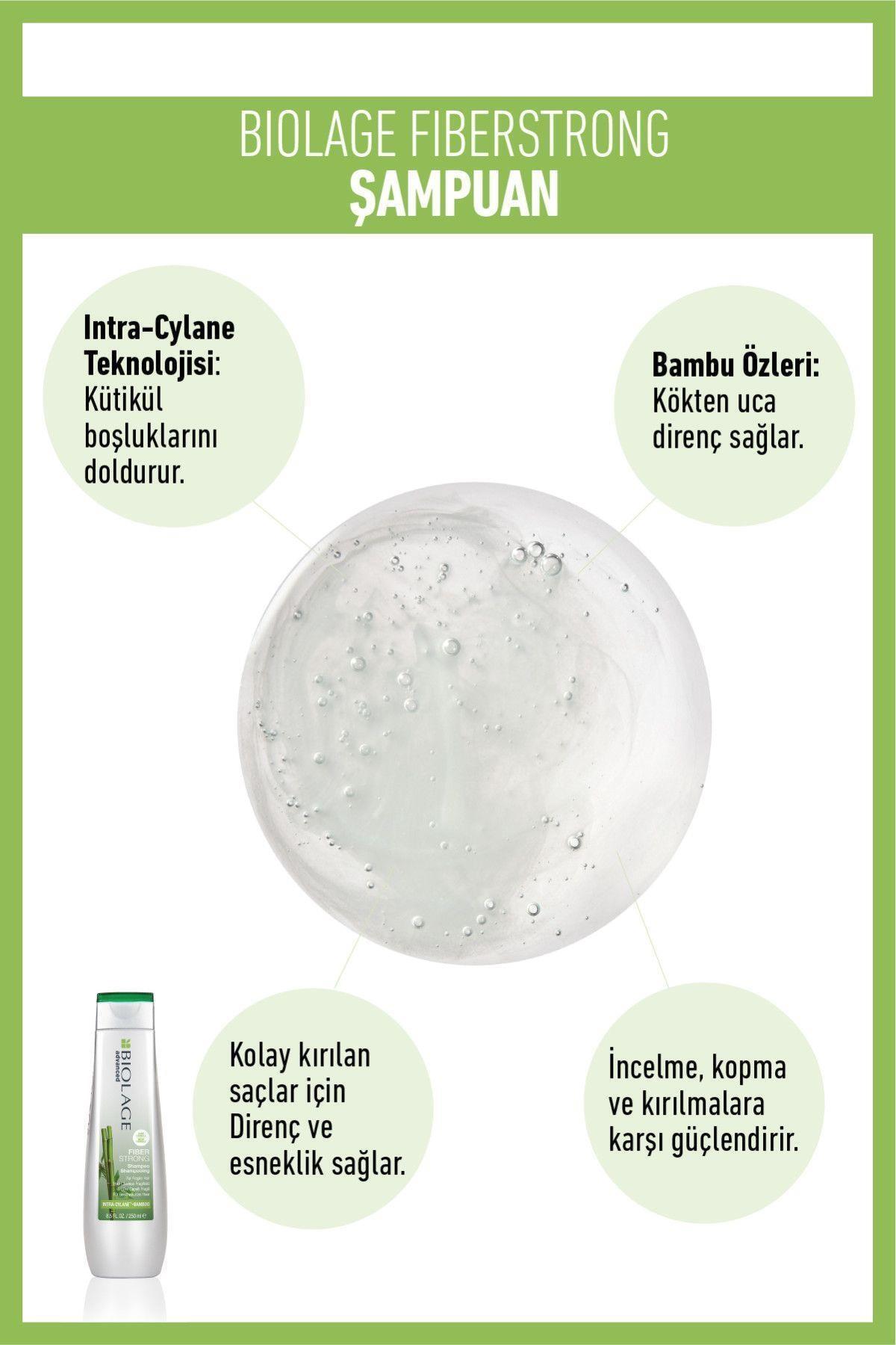 Biolage Fiberstrong Yıpranmış Kolay Kırılan Saçlar Için Güçlendirici Şampuan 250 ml 1