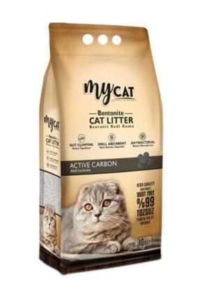 My Cat Mycat Aktif Karbonlu Topaklaşan Bentonit Kedi Kumu 10lt 0