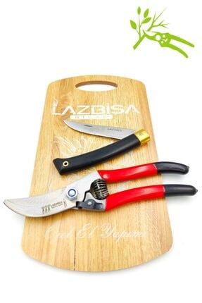 LAZBİSA Lazoğlu Sürmene Bağ Bahçe Ağaç Dal Budama Makası Kesme Kırpma Makası Cep Çakısı Mutfak Bıçak 1