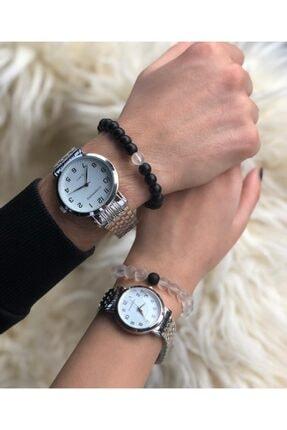 Unisex Gümüş Sevgili Saatleri TCLAW19AL08961