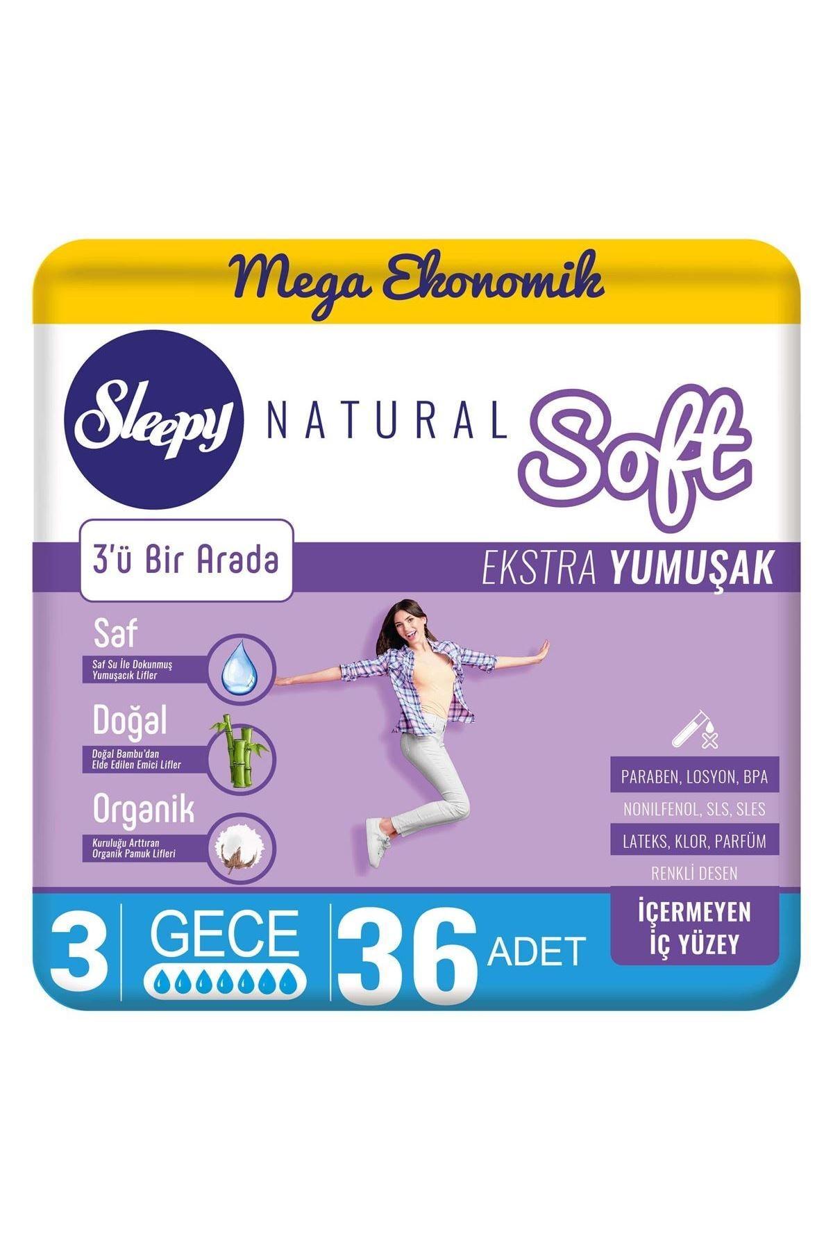 Sleepy Natural Soft Ekstra Yumuşak Gece36 Ped 0