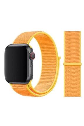 Zore Apple Watch 1 2 3 4 5 Serisi  Uyumlu  Spor Loop Hasır Cırt Cırtlı Kayış Kordon 42 mm 0