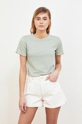 TRENDYOLMİLLA Mint Fitilli Örme Bluz TWOSS21BZ0756 1