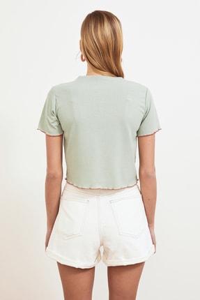 TRENDYOLMİLLA Mint Fitilli Örme Bluz TWOSS21BZ0756 4