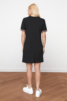 TRENDYOLMİLLA Siyah Şerit Detaylı Örme  Elbise TWOSS19FV0107 4