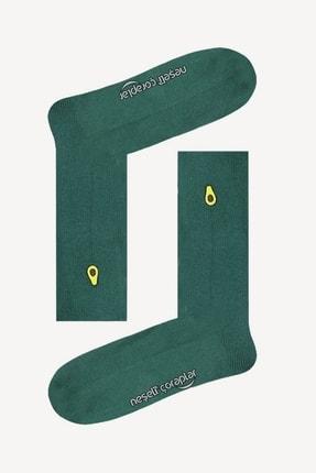 Neşeli Çoraplar Unisex Renkli 10'lu Nakışlı Soket Çorap Set 4