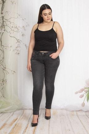 تصویر از Kadın Antrasit Cep Detaylı Slim Fit Kot Pantolon 65N22288