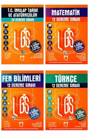 Mozaik Yayınları 8. Sınıf Inkılap + Matematik + Fen Bilimleri + Türkçe Lgs Deneme Sınavı 4 Kitap 0