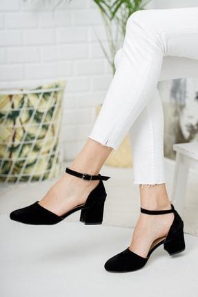Tolgado Kadın Siyah Süet Topuklu Yeni Klasik 0