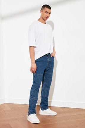 TRENDYOL MAN Beyaz Basic Erkek Oversize Bisiklet Yaka Kısa Kollu T-Shirt TMNSS21TS0811 3