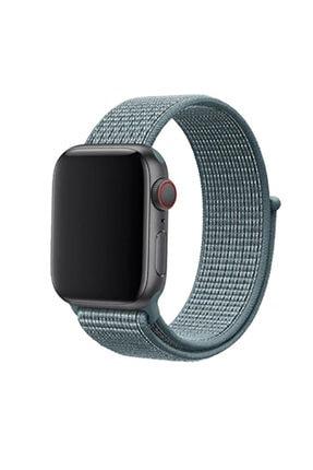 Zore Apple Watch 1 2 3 4 5 Serisi Uyumlu 42mm Kordon Spor Loop Hasır Cırt Cırtlı Kayış 0