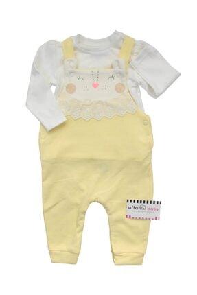 تصویر از Aslanlı Dantelli Kız Bebek Salopet Takım