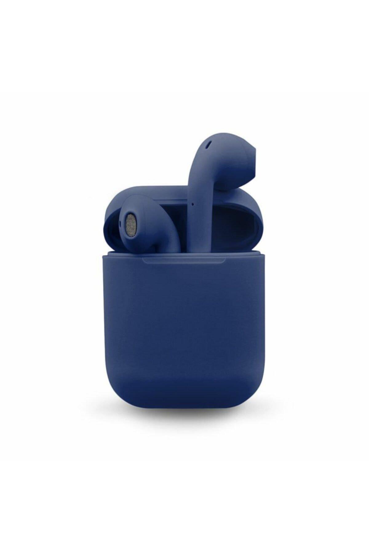 Airpods 2. Nesil i12 Lacivert Bluetooth Kulaklık Muhteşem Ses Performansı