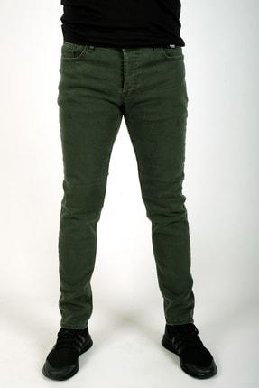 bombe Erkek Slim Fit Dar Kesim Kot Pantolon Haki Yeşil 1