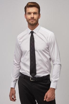 Altınyıldız Classics Erkek Beyaz Tailored Slim Fit Duble Manşet Gömlek 1