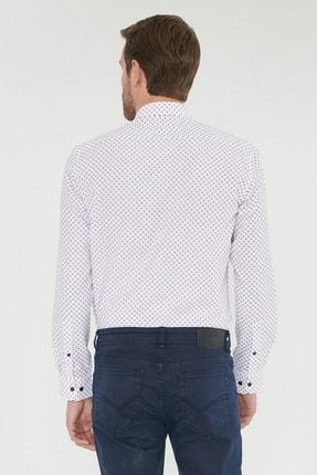 Altınyıldız Classics Erkek Bordo Tailored Slim Fit Baskılı Gömlek 3