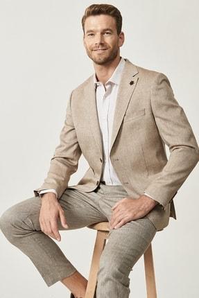 Altınyıldız Classics Erkek Vizon Slim Fit Desenli Ceket 0