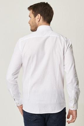 Altınyıldız Classics Erkek Beyaz Tailored Slim Fit Klasik Gömlek Yaka %100 Koton Gömlek 2