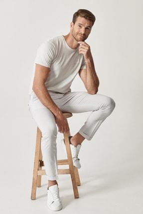 Altınyıldız Classics Erkek Gri Slim Fit Desenli Pantolon 0