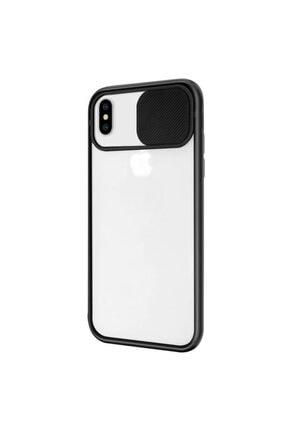 Zengin Çarşım Iphone Xs Max Uyumlu Siyah Kamera Lens Korumalı Sürgülü Kılıf 1