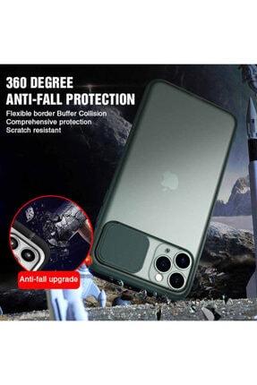 Zengin Çarşım Iphone Xs Max Uyumlu Siyah Kamera Lens Korumalı Sürgülü Kılıf 4