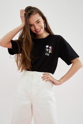 Defacto The Nightmare Before Christmas Lisanslı Oversize Tişört 4
