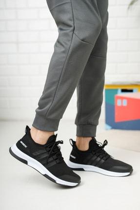 meyra moda Siyah Beyaz Erkek Sneaker 1