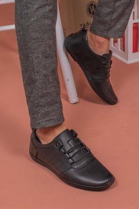 Yağlıoğlu Kundura Erkek Hakiki Deri Topuk Jelli Çarık Ayakkabısı 0