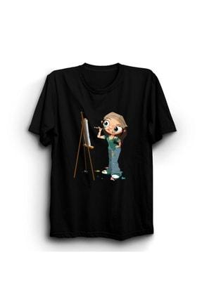 ByTalika Ressam Kız T-shirt 0